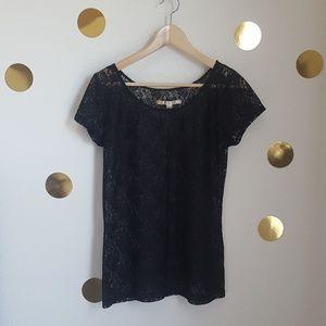 [LC Lauren Conrad] Black Lace Overlay